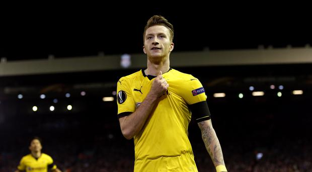 Borussia Dortmund's Marco Reus was on target (Peter Byrne/PA)
