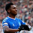 Alfredo Morelos was allegedly targeted by Hearts fans after scoring the equaliser at Tynecastle (Jane Barlow/PA)