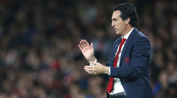 Unai Emery thinks Arsenal can finish in the top four this season (Steven Paston/PA)