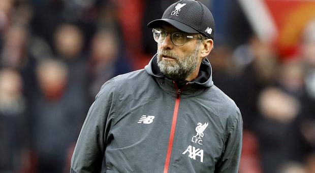 Jurgen Klopp has not been impressed by Liverpool's results on the road in the Champions League (Martin Rickett/PA)