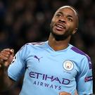 Raheem Sterling scored a hat-trick for Manchester City (Martin Rickett/PA)