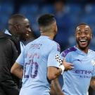Raheem Sterling (right) hit a hat-trick for Manchester City (Martin Rickett/PA)