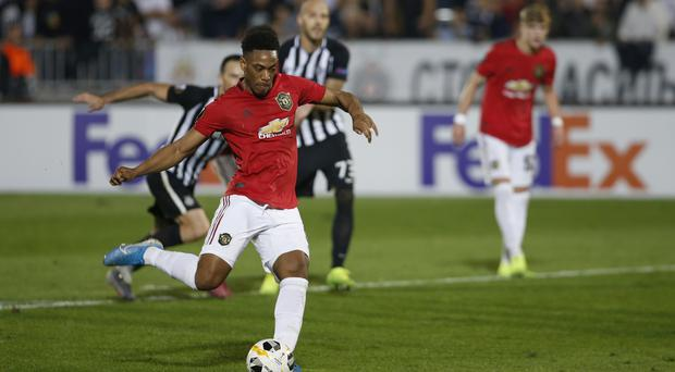 Anthony Martial scored the only goal of the game (Marko Dronjakovic/AP)
