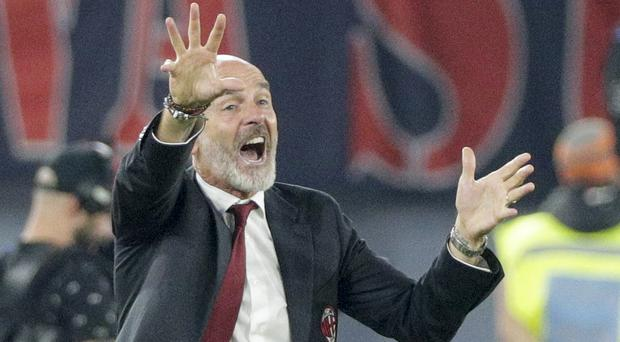 Stefano Pioli was frustrated by his side's performance (Andrew Medichini/AP)