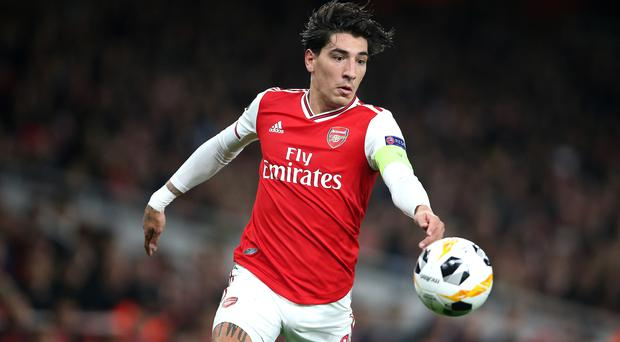 Hector Bellerin called for Arsenal to move forward together following an incident between captain Granit Xhaka and the fans. (Nigel French/PA)