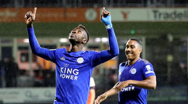Kelechi Iheanacho set Leicester on their way at the Pirelli Stadium (Nick Potts/PA)