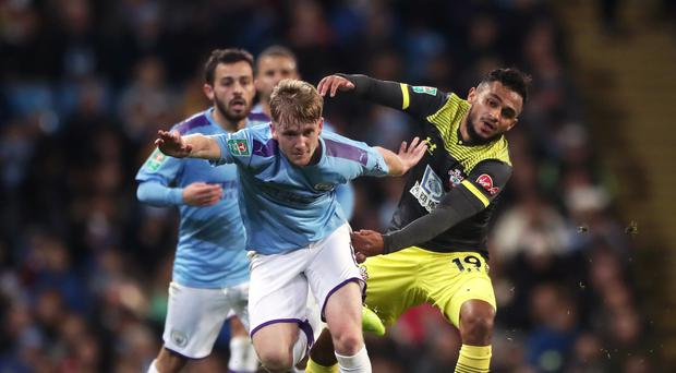 Tommy Doyle made his Manchester City debut on Tuesday night (Nick Potts/PA)