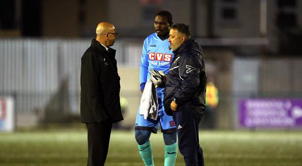 Haringey manager Tom Loizou (right) hopes this could be a turning point in the face of alleged racist abuse (Steven Paston/PA)