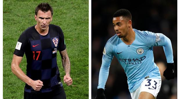 Mario Mandzukic could be coming to Manchester but Gabriel Jesus insists he himself is staying put (Aaron Chown/Martin Rickett/PA)