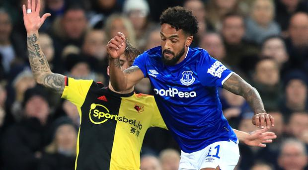 Theo Walcott (right) replaced Moise Kean at half-time in Everton's 2-0 Carabao Cup win over Watford (Simon Cooper/PA)