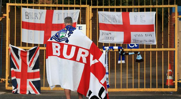 The EFL has been criticised for its role in the folding of Bury in August (Peter Byrne/PA)