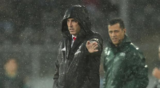 Unai Emery remained defiant despite draw in Vitoria (Luis Vieira/AP)