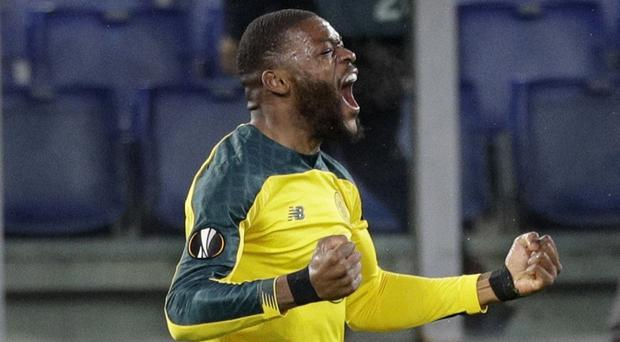 Olivier Ntcham came off the bench at the Stadio Olimpico to score the winner (Gregorio Borgia/AP)
