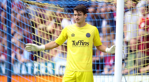 Shrewsbury goalkeeper Max O'Leary is out of the FA Cup tie with Bradford (Tim Goode/PA)