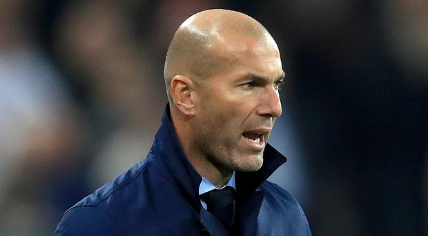 Real Madrid head coach Zinedine Zidane has defended his position over comments on Kylian Mbappe (Mike Egerton/PA Wire)