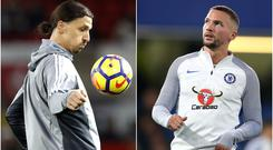 Zlatan Ibrahimovic and Danny Drinkwater could be on the move (Martin Rickett/Nigel French/PA)