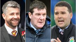 Stephen Robinson, Tommy Wright and David Healy could be among the contenders to replace Michael O'Neill (Jeff Holmes/Ian Rutherford/Niall Carson/PA)