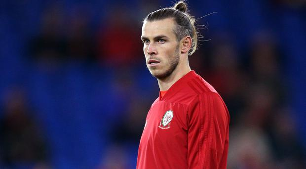 Gareth Bale trained with the Wales squad on Monday (Nigel French/PA).