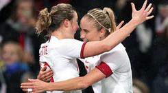 England's Ellen White (left) and captain Steph Houghton are being rested for Tuesday's game at Czech Republic (John Walton/PA)