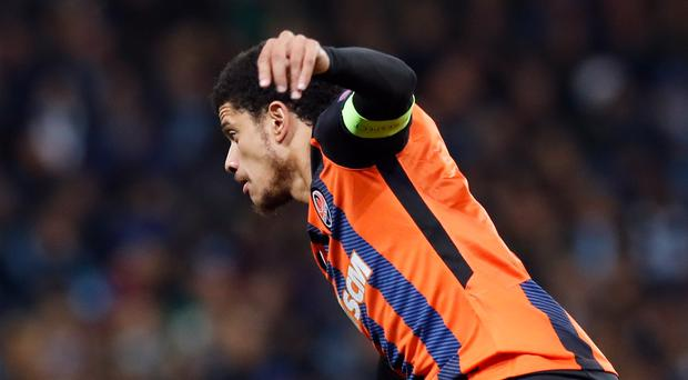 Shakhtar Donetsk midfielder Taison was subjected to alleged racist abuse during Sunday's match against Dynamo Kiev (Martin Rickett/PA)