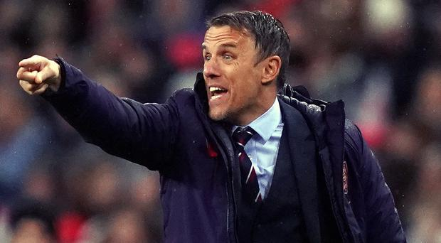 Phil Neville said the buck stops with him after England Women's poor run of results (John Walton/PA)