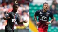 Wilfried Zaha and Memphis Depay could be on the move (Tim Goode/Jeff Holmes/PA)