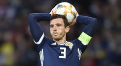 Scotland captain Andy Robertson out of final Euro qualifying double header (Ian Rutherford/PA)