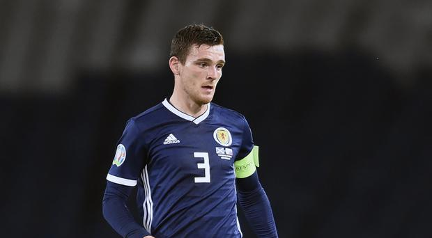 Andy Robertson is out of the Scotland squad (Ian Rutherford/PA)