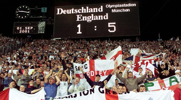 England memorably beat Germany 5-1 in Munich (Owen Humphreys/PA)