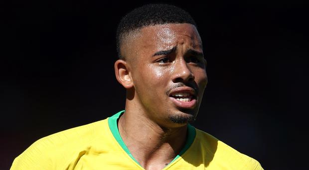 Manchester City forward Gabriel Jesus scored, and was later sent off, as Brazil won the Copa America final (Nick Potts/PA Wire)