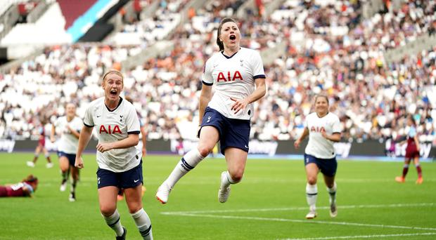 Spurs Women are set for a bumper crowd for their north London derby at the Tottenham Hotspur Stadium (John Walton/PA)
