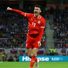 Wigan striker Kieffer Moore has made a big impact in his short time with Wales (Tim Goode/PA)