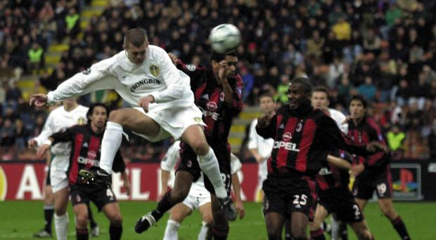 Dominic Matteo scoring in the San Siro (John Giles/PA)