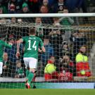 Steven Davis missed a penalty as Northern Ireland were held by Holland (Liam McBurney/PA)