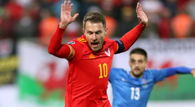 Aaron Ramsey (left) made his first Wales appearance in nearly a year after injuries and is now targeting Euro 2020 qualification (Bradley Collyer/PA)