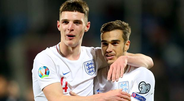 Harry Winks, right, opened his England account in Kosovo (Steven Paston/PA)