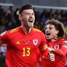 Wales striker Kieffer Moore has became an instant hit in international football (Bradley Collyer/PA)