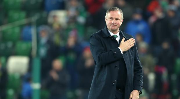 Michael O'Neill will take charge of Northern Ireland for one of the final times on Tuesday (Liam McBurney/PA)