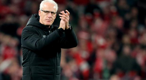 Republic of Ireland manager Mick McCarthy was putting on a brave face after seeing his side miss out on automatic qualification for the Euro 2020 finals (Niall Carson/PA)