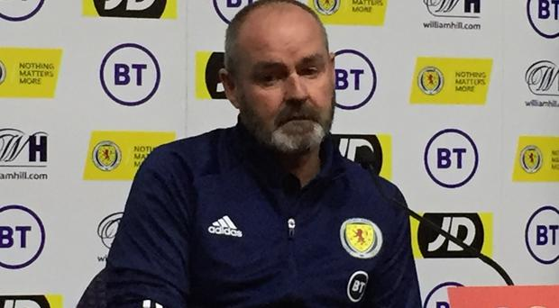 The Scotland players are getting to know Steve Clarke slowly but surely (Ronnie Esplin/PA)