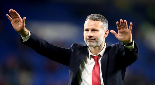 Manager Ryan Giggs takes the plaudits from fans after Wales' Euro 2020 qualification was secured (Nick Potts/PA)