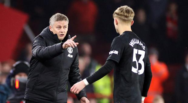 Manchester United manager Ole Gunnar Solskjaer was pleased to see Brandon Wiliams spark a revival (Danny Lawson/PA)