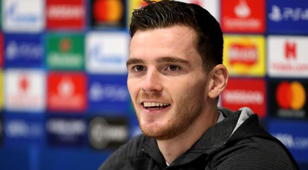 Andy Robertson is not worried about a fixture pile-up (Richard Sellers/PA)