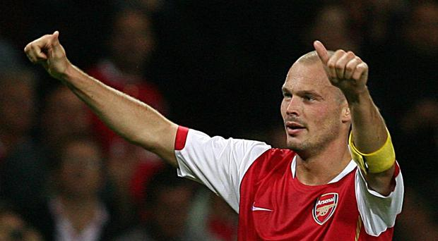 Freddie Ljungberg has taken temporary charge at Arsenal having made 325 appearances for the club as a player. (Chris Young/PA)