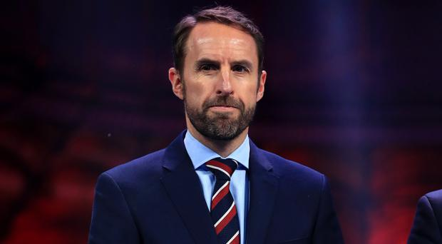Gareth Southgate at the Euro 2020 draw in Bucharest (Mike Egerton/PA)