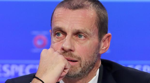 Aleksander Ceferin has been speaking about UEFA's tackling of racism in football (Niall Carson/PA)