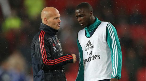 Freddie Ljungberg will have a chat with Nicolas Pepe (Nick Potts/PA)