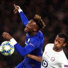 Chelsea's Tammy Abraham (left) netted in the win over Lille (PA)