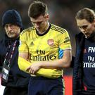 Arsenal's Kieran Tierney dislocated his shoulder against West Ham (Adam Davy/PA).