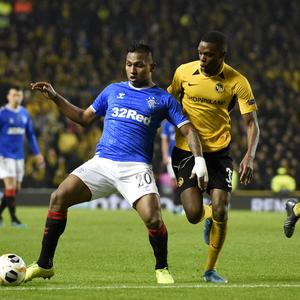 Alfredo Morelos was on target again for Rangers in the Europa League (Ian Rutherford/PA)